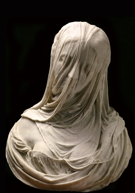 BUST OF A VEILED WOMAN (PURITAS). 1725.